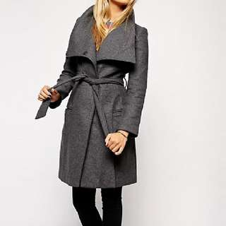Asos funnel Neck Coat