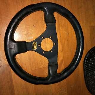 平面賽車方向盤 OMP  尺寸330