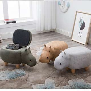 (More Colors) Hippo Stool