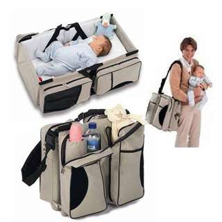 2 in 1 Baby Travel + Multi function baby diaper bag
