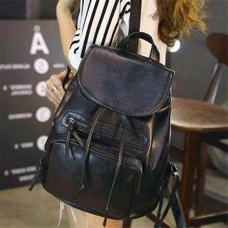 PO🔥PU Leather Bagpack/ Schoolbag♥