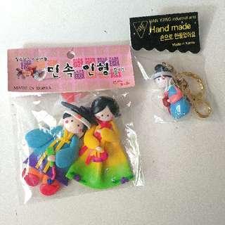 Korean handmade magnets, keychain, handphone holder.