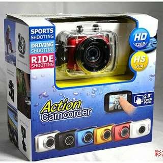 全新 Sports Action Camcorder 2.0 Sport Cam Action Cam Driving Shooting Waterproof Camera 潛水運動防水攝錄機連防水殼