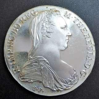 1780x - Austrian Silver Thaler Large coin