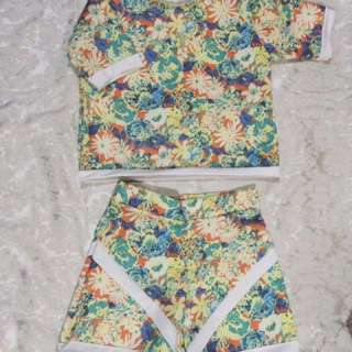 Crop Top & High Waist Floral