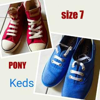 Keds & Pony Shoes Bundle (size 7)