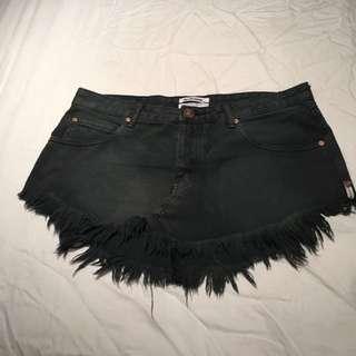 One Teaspoon Denim Skirt