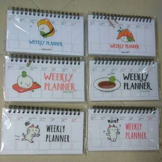 Brand New Weekly Planner