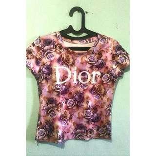 Kaos Dior Bunga