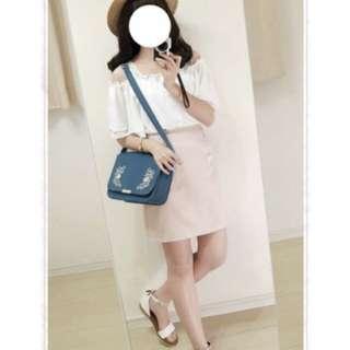 轉賣rika-HEATHER氣質甜美花朵刺繡短裙(粉色)