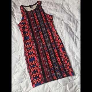 F21 Tribal Bodycon Dress