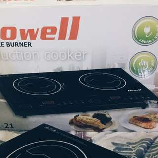 Induction Cooker-Dowell IC-21 Double Hotplate (Black)