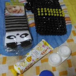 Random-Baby Socks, Bead Purse, Hand Cream, Contact Lens Case