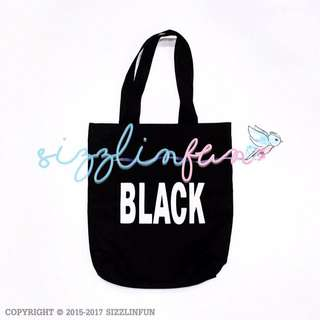Tote Bag Black & Pink, 38x33cm.