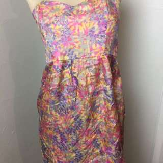 Ladakh Colourful Boobtube Dress Size 10