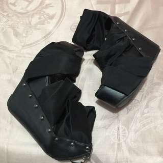 Black Strappy Ankle Boots