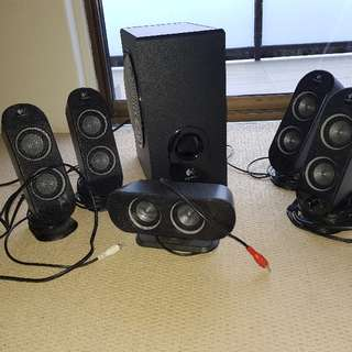 Logitech Surround Sound Speakers And Subwoofer