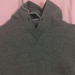 Oversized Hooded Grey Jumper
