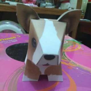 Boneka Dari Kertas Bentuk Anjing