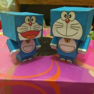 Boneka Dari Kertas Bentuk Doraemon