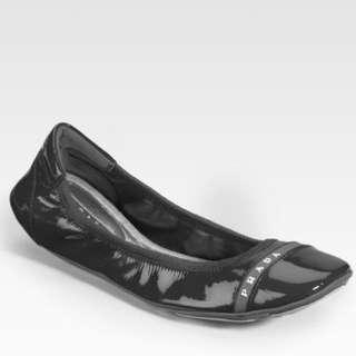 Prada Scrunch Ballet Flat