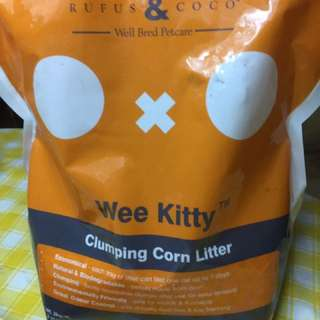 Rufus and Coco Clumping corn litter