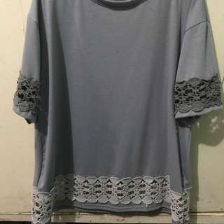 Grey top with lace details