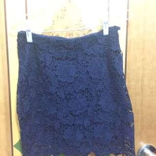 6ixty8ight寶藍褸空短裙