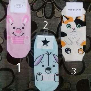 New! Kaos kaki karakter korea