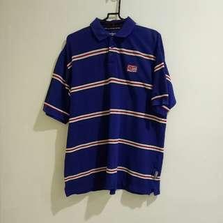 Reebok 正版 正老品 復古 古著 藍底白紅條紋 稀有 網眼材質 Polo衫