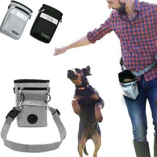 Dog Treat Training Pouch with Poop Bag Dispenser Pet Dog Walking Food Treat Snack Bag Outdoor Agility Bait Training Pockets