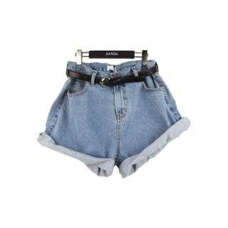 [bnip] stylenanda oversized denim shorts