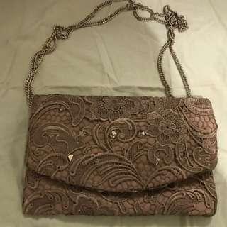 Lace Clutch / Shoulder Chain Bag