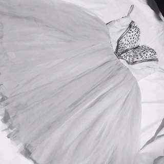 White Princess Ball Cocktail Dress