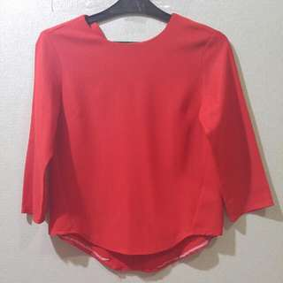 Red Blouse Excellent Condition