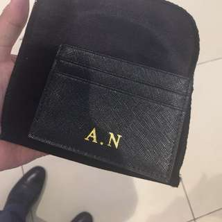 Monogrammable Saffiano Leather Card Holder