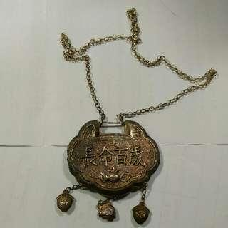 舊民國銀鎖牌