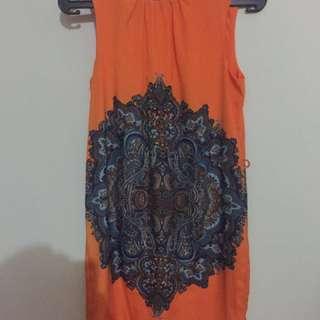 Zara ethnic printed mini dress