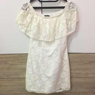 Cloth Inc Sabrina Dress in White