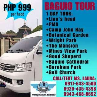 BAGUIO TOUR FOR ONLY 999 (Van rental Van For Rent Hire Car For Rent Hire Rent A Car Baguio Tour Outing)