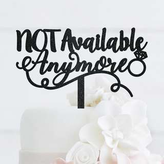 Not Available Anymore black metallic cake topper