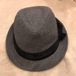 Terranova grey hat with ribbon detail