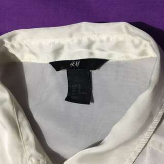 H&M White Button Down Polo
