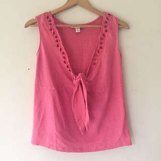 Mango Pink Sleeveless Top