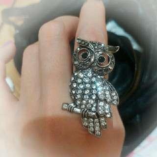 貓頭鷹 戒指