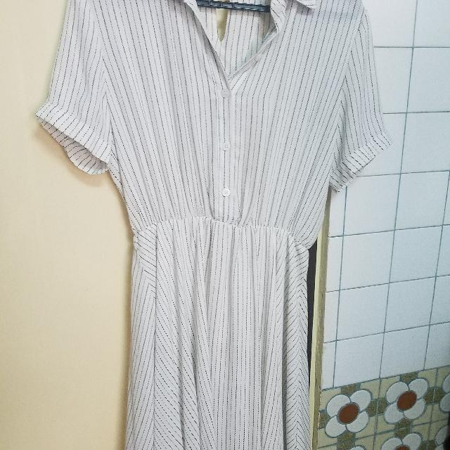 襯衫條紋洋裝
