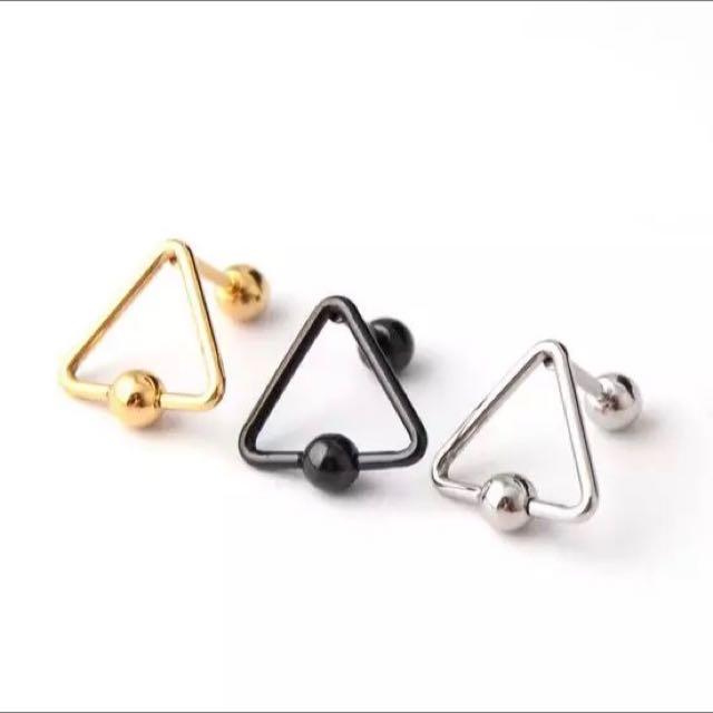 抗敏感醫療鋼個性幾何圖形耳環