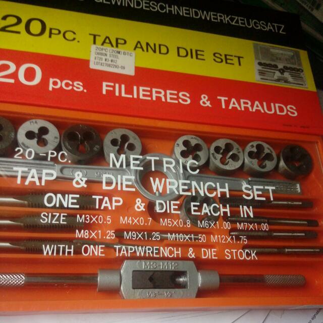 螺絲攻, 板牙 套裝(M3 - M12) Made In Japan ( 修補螺絲的工具 或在金屬圓棒上造螺絲牙)