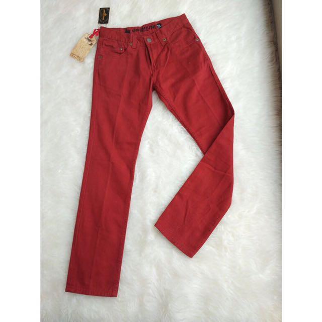 [ LEA ] Maroon Jeans