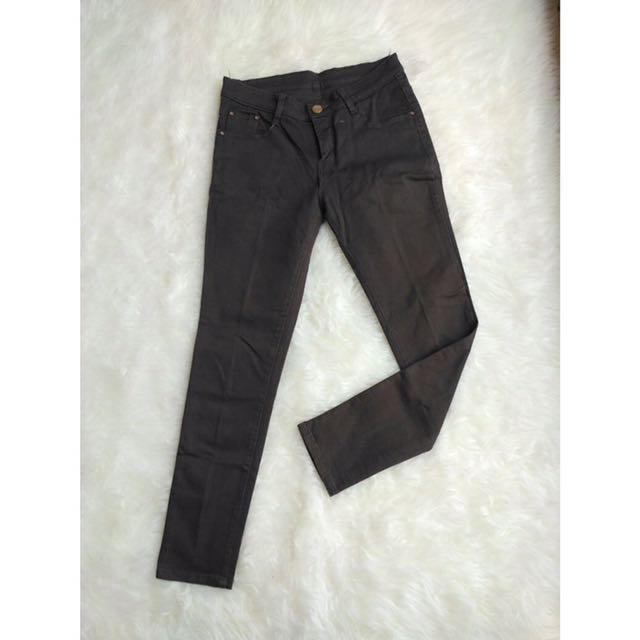 [ ZARA Woman ] Plated Grey Jeans